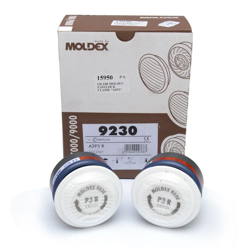Filtri moldex easylock classe a2p3 igiene e sicurezza for Tappi moldex